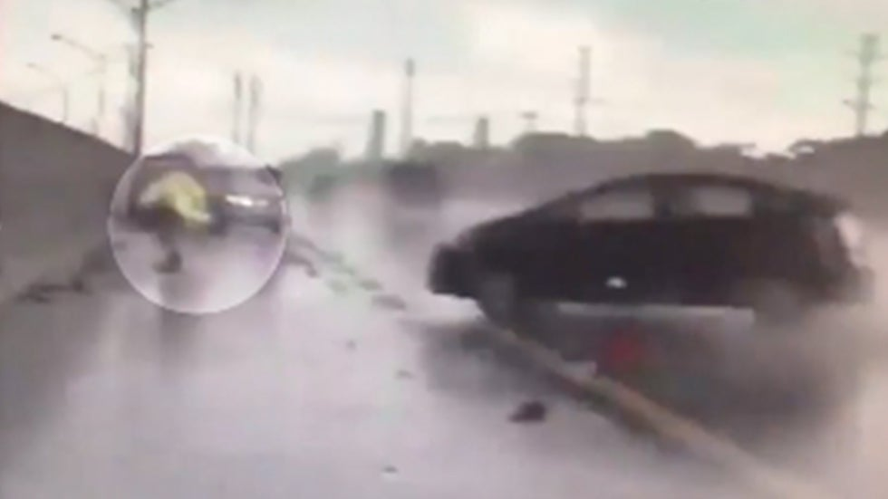 Florida Highway Patrol Trooper Injured by Speeding, Hydroplaning Car