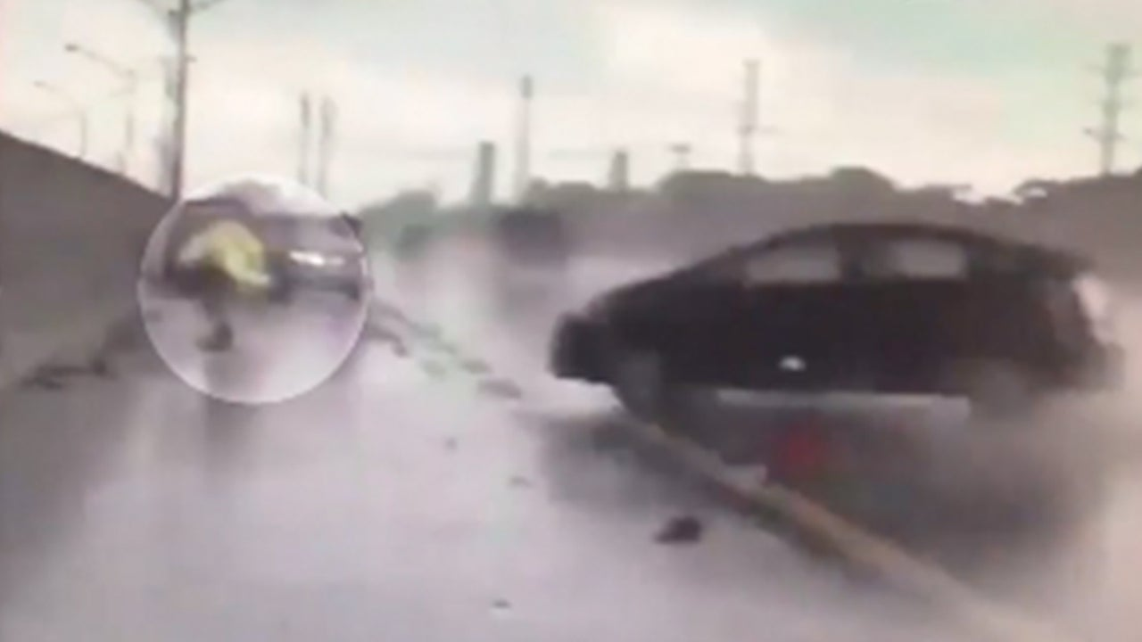 Florida Highway Patrol Trooper Injured by Speeding, Hydroplaning Car