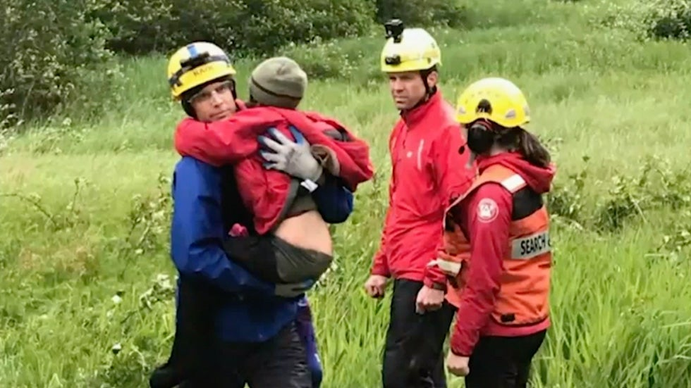 Children Rescued After Falling Off Cliff in British Columbia