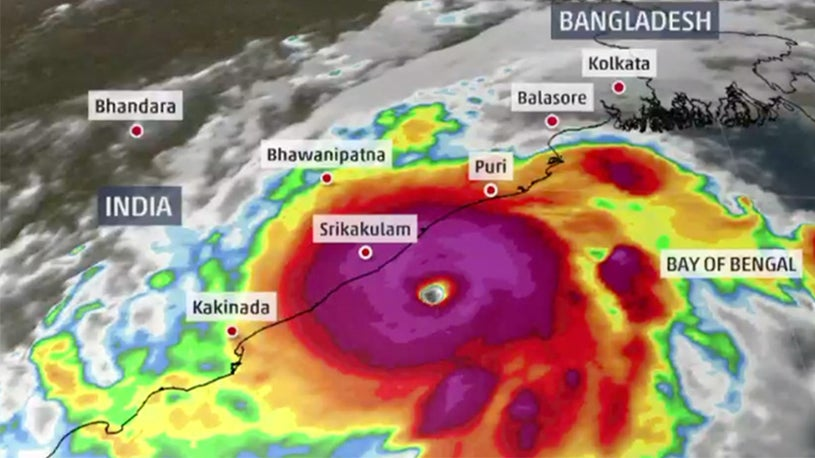 Image result for image fani cyclone bay of bengal
