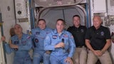 Astronauts Board Space Station After Historic Launch