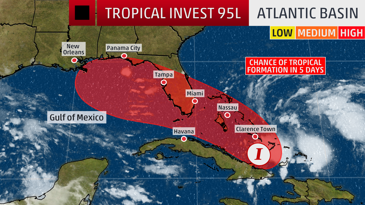 System Near Bahamas Could Develop into Tropical Storm, Track Toward U.S.