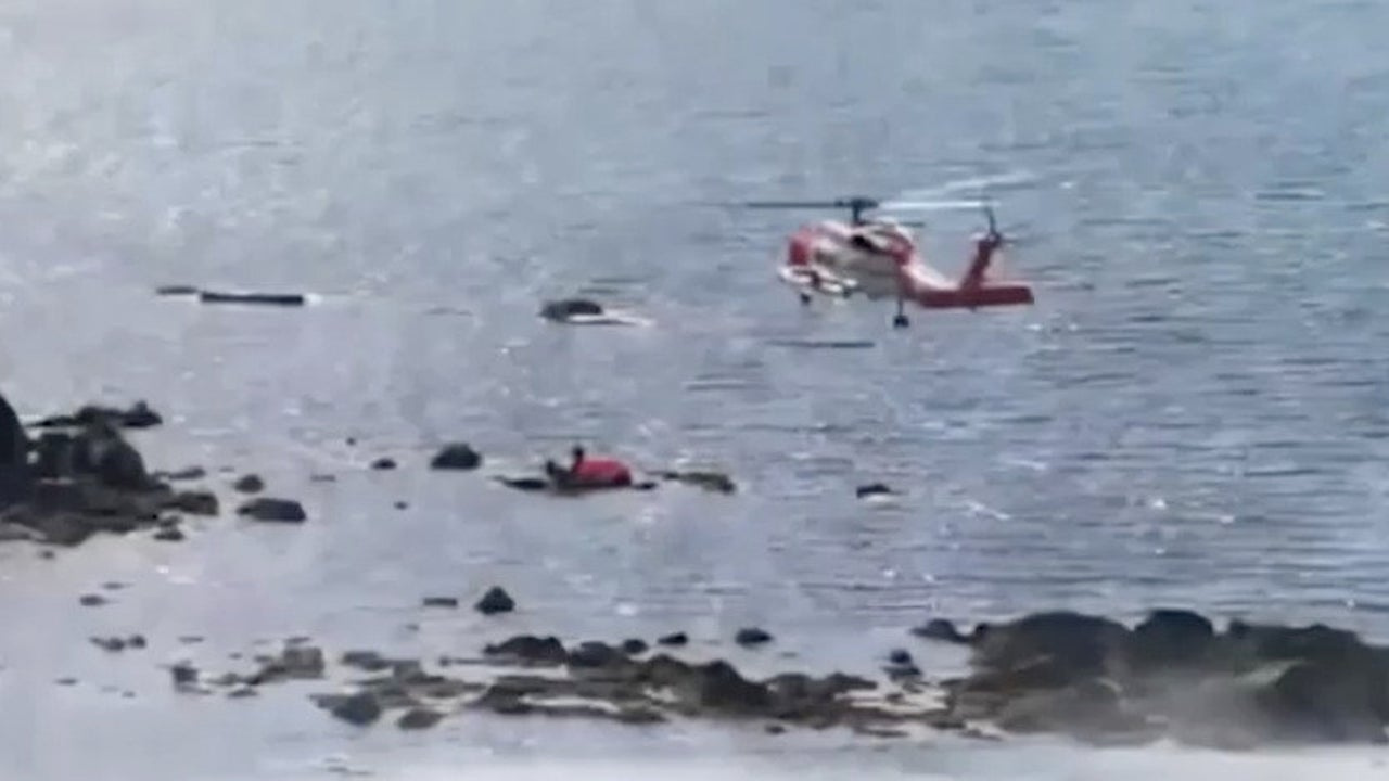 Group Rescued After Inflatable Flamingo Raft Runs Aground