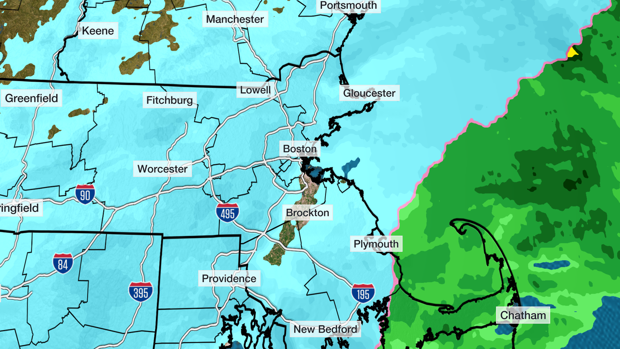 Winter Storm Moves out of Boston by Noon
