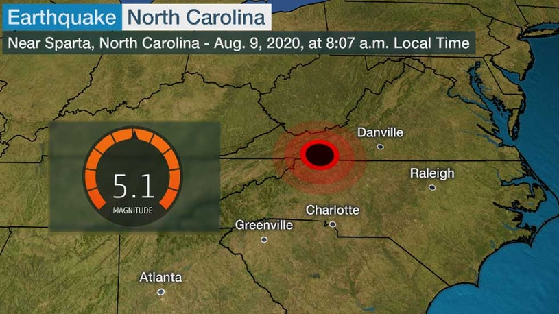 Earthquake Rattles Several States in the Southeast