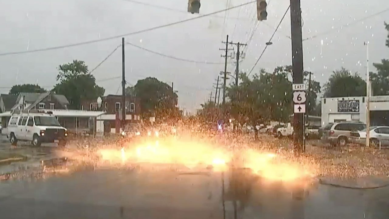 Downed Power Line Causes Close Call for Ohio Driver