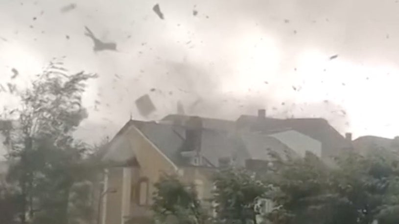 Tornado in Europe Injures Several and Damages Many Homes
