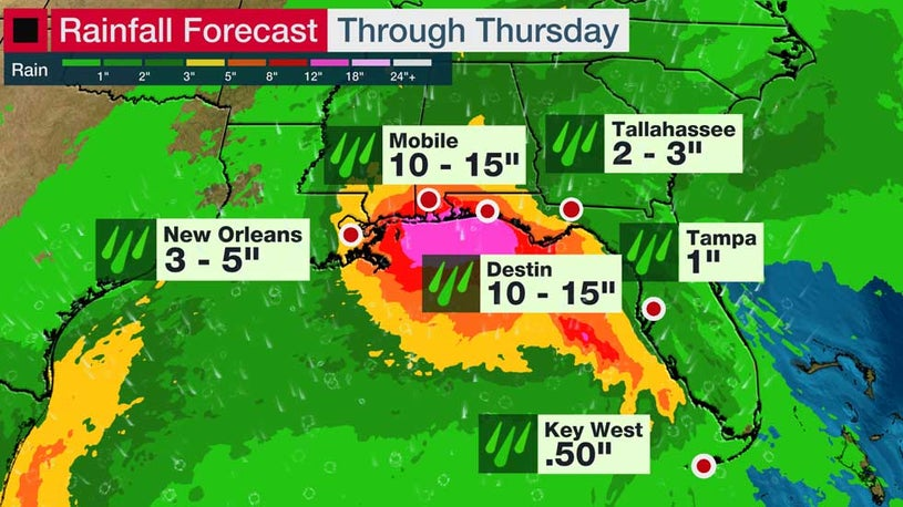 Sally Could Drop a Foot and a Half of Rain on the Gulf Coast this week