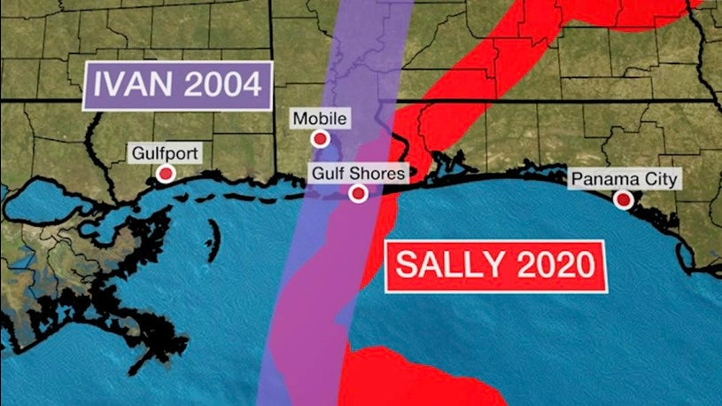 Hurricanes Sally and Ivan Made Landfall on Same Date, Same Place 16 Years Apart
