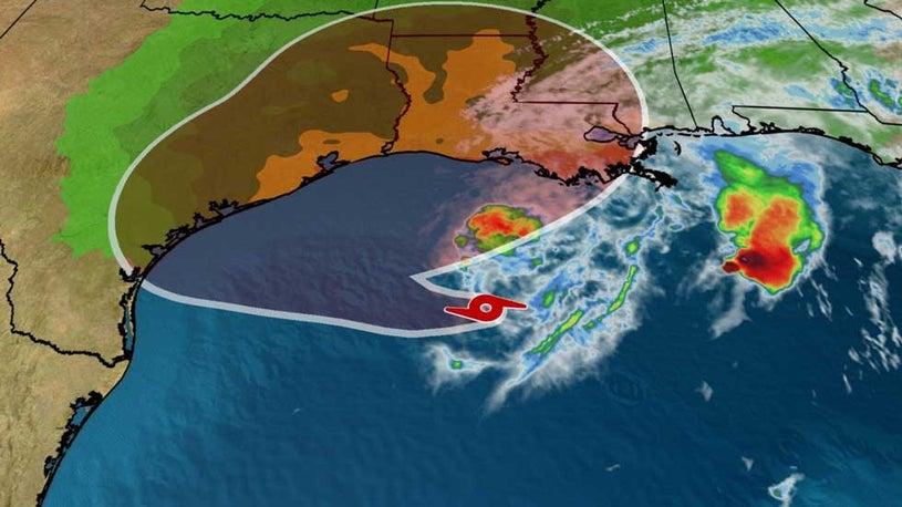 Tropical Storm Beta Drifting Around the Northwestern Gulf of Mexico