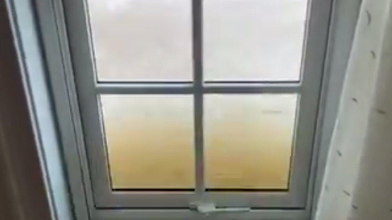 Hurricane Dorian's Waves Lash Home's Windows in Bahamas