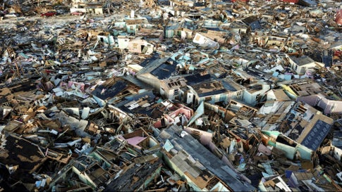 Hurricane Dorian Left 1.5 Billion Pounds of Debris in Marsh Harbour, Bahamas