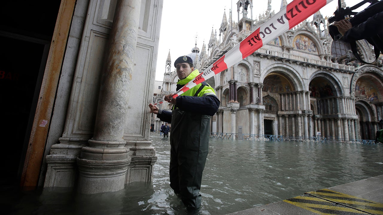 The historic, and vulnerable, city of Venice was hit by epic flooding for the third time in a week.