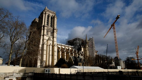 Notre Dame cathedral is pictured in Paris on December 22, 2019. (AP Photo/Thibault Camus)