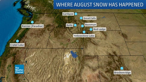 It May Seem Too Soon, But August Snow Has Happened in the U.S. Before