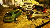 Floodwaters Stack Cars, Destroy Streets in Belgium