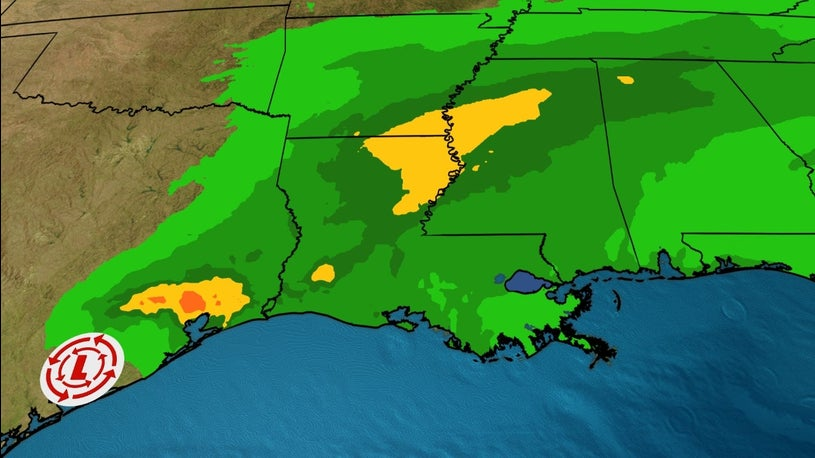 Remnants of Beta to Bring a Lot of Rain to Southeast