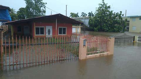 Flooding from Tropical Storm Isaias was particularly heavy on the southwest side of Puerto Rico, including in Cabo Rojo, on Thursday, July 30, 2020. (Twitter/@edwinjoel91)
