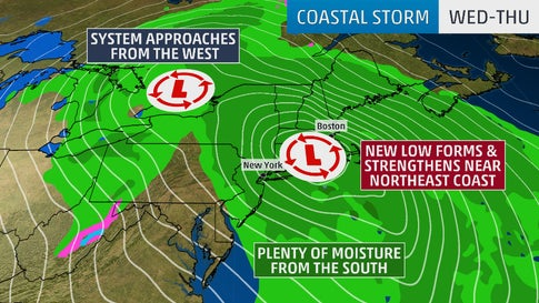Northeast Coastal Storm to Bring Heavy Rain, Strong Winds From the Mid-Atlantic to New England