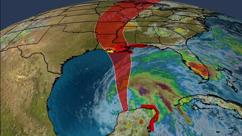 Tropical Storm Cristobal Moving North Towards Gulf Coast