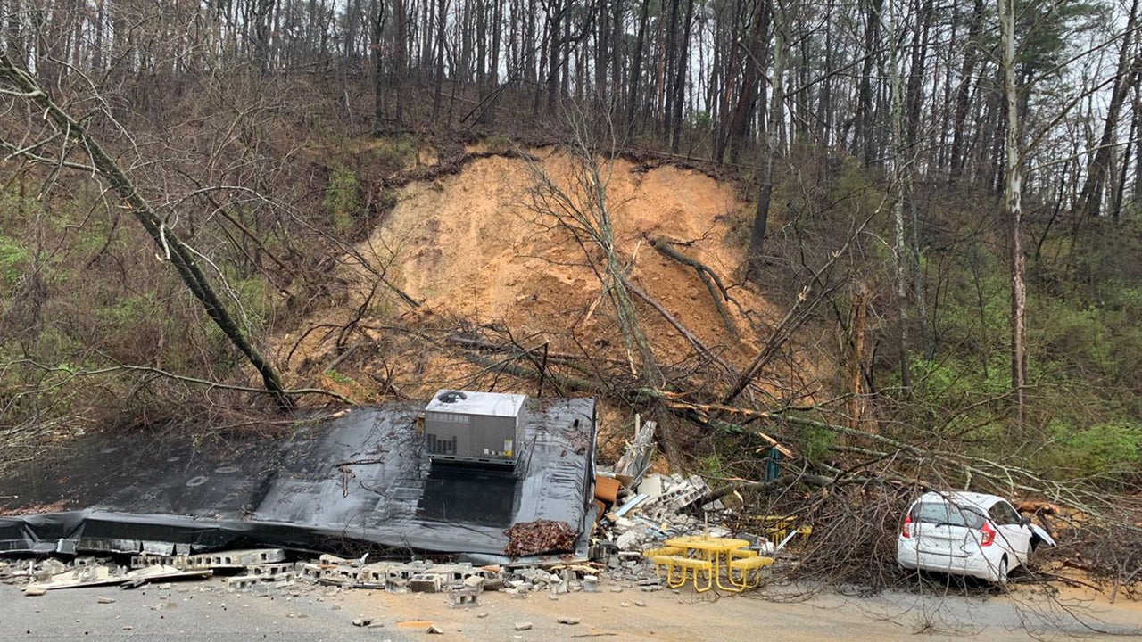 Subway Restaurant Destroyed by Landslide Near Chattanooga