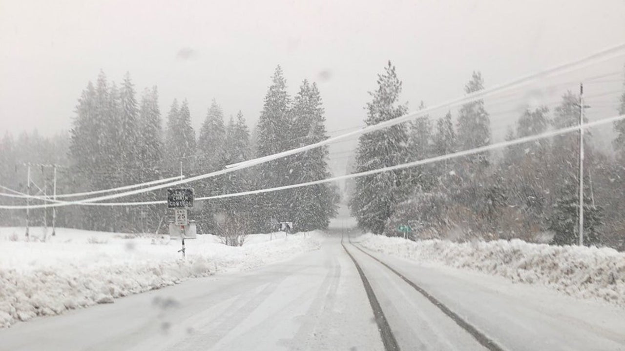 State Route 20 was reported closed from Nevada City to the Interstate 80 junction due to hanging power lines on Tuesday, Feb. 26, 2019. (Twitter/@CaltransDist3)
