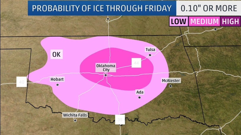 Winter Storm Fisher Means Snow and Ice for TX, OK
