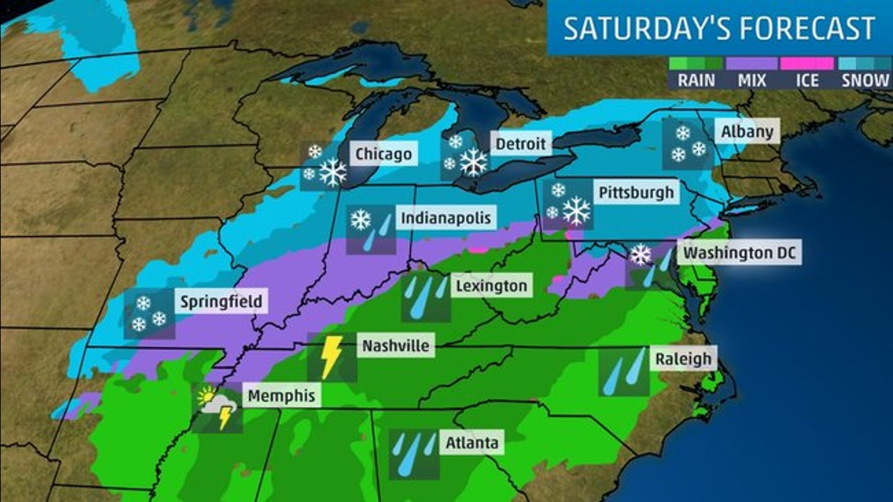 Interstate Travel Weather Map.Midwest I 70 Travel Will Be Dangerous The Weather Channel