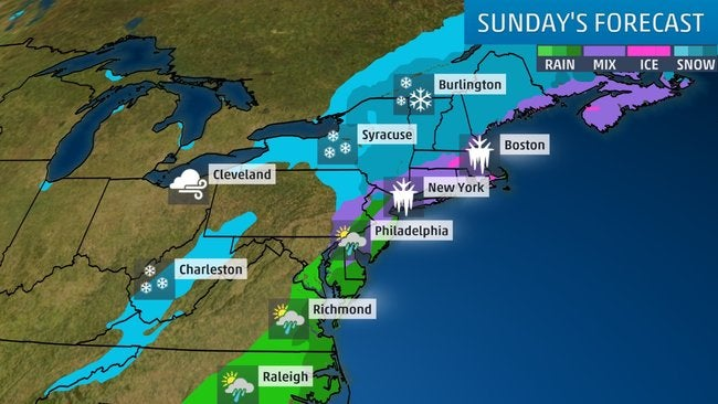 Northeast: Snow Could Be Major