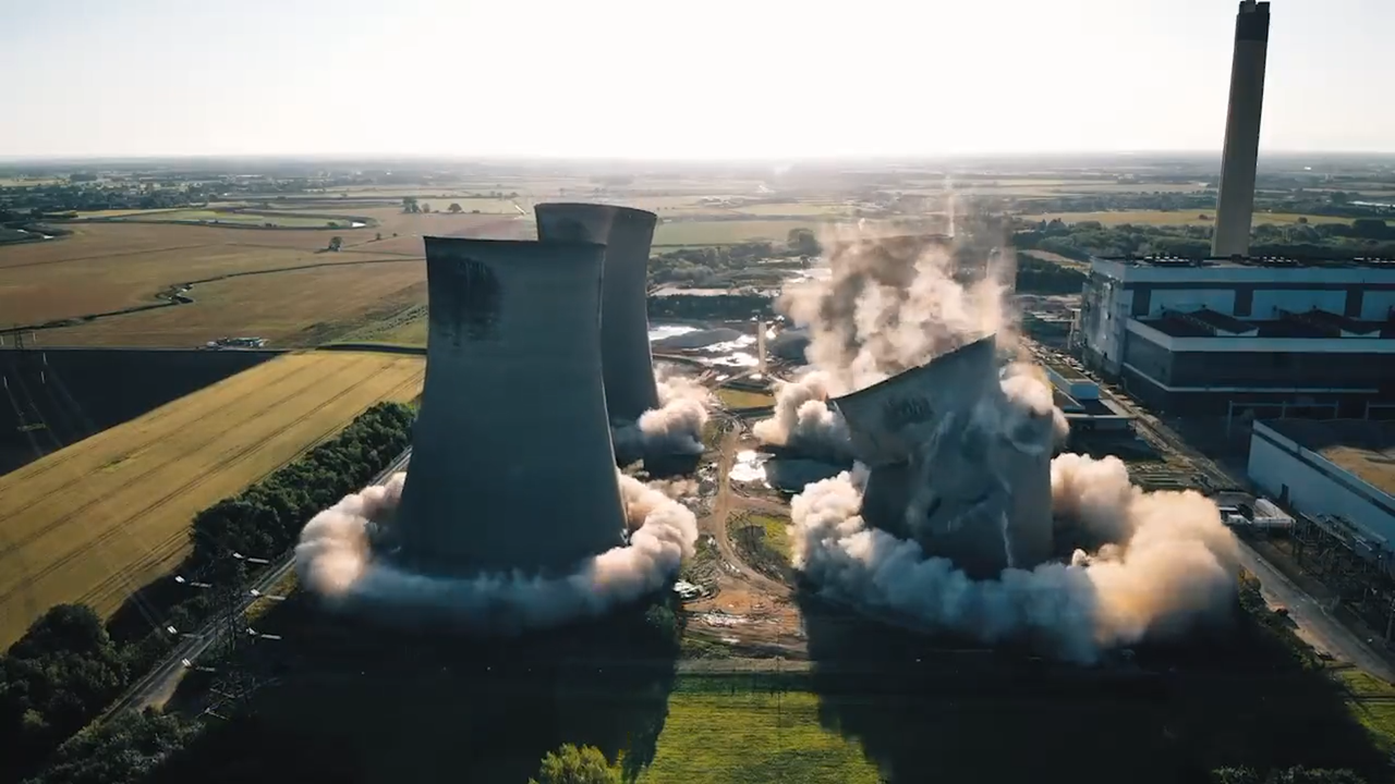 Concrete Towers Reduced to Dust in Seconds