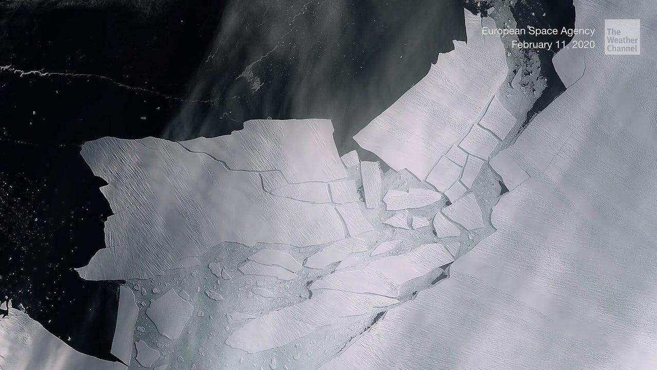 Vom Pine-Island-Gletscher hat sich ein riesiger Eisbrocken gelöst. Der Gletscher gilt ohnehin als instabil. Forscher befürchten, das Schmelzen könnte letztlich zu einem Zusammenbruch führen.