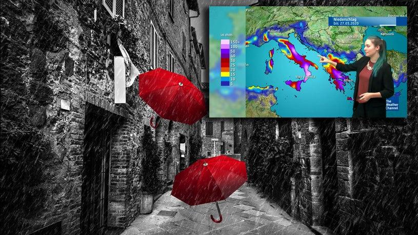 Starkregen, Schnee, Überschwemmungen: Tief Liebgard nimmt Südeuropa ins Visier