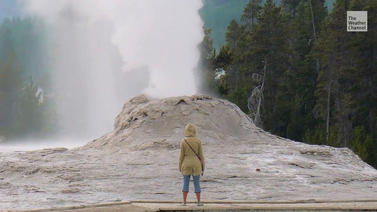 Am Dienstag ist eine Frau unerlaubt im Yellowstone-Nationalpark unterwegs gewesen und dabei in eine der heißen Quellen gefallen. Trotz ihrer Verbrennungen stieg sie anschließend in ihr Auto.