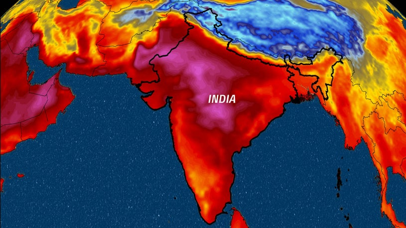Dangerous Heat and Dry Conditions in India