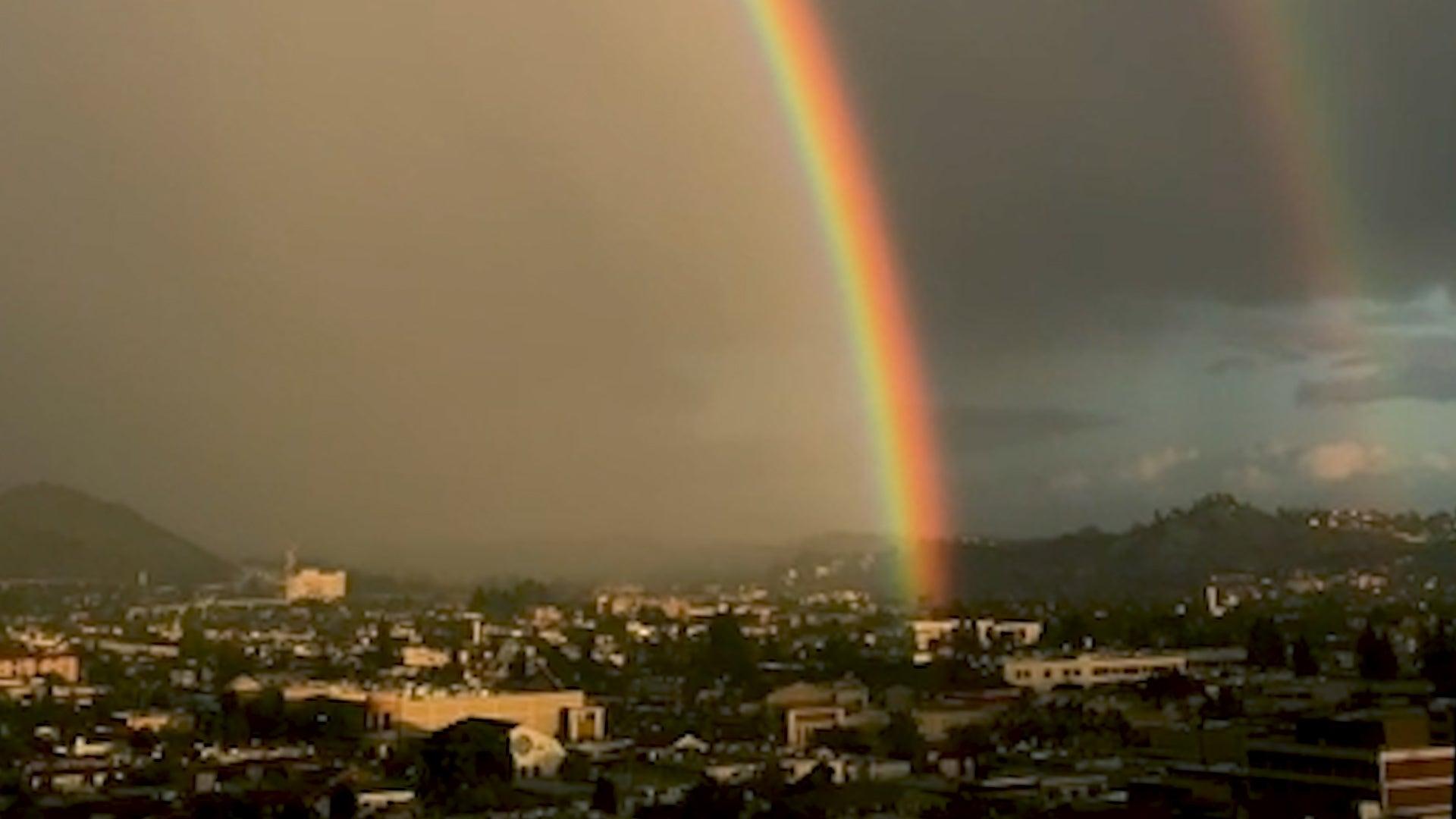Los Angeles Experiences Incredible Double Rainbow