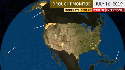 America's Weirdest Drought: Some Typically Wet Places Are Dry, While Nearly Everywhere Else Is Wet