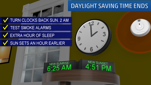 Don't Forget! Fall Back Tonight as Daylight Saving Time Ends
