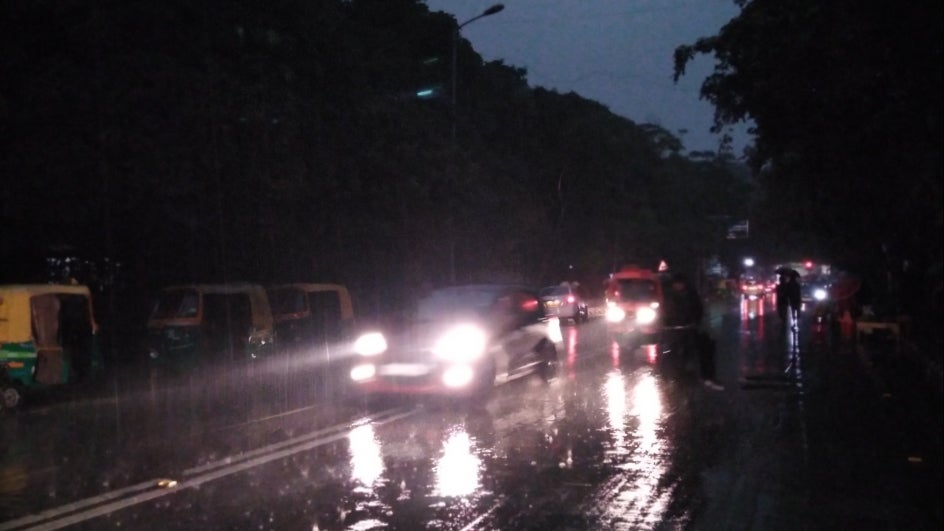 Rain, Hail Catches Delhi Residents off Guard