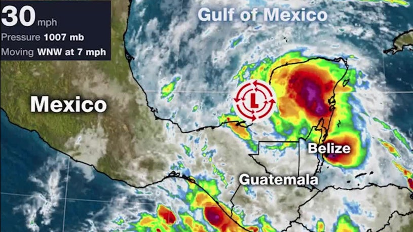 Tropical Depression Three Forms in the Gulf of Mexico