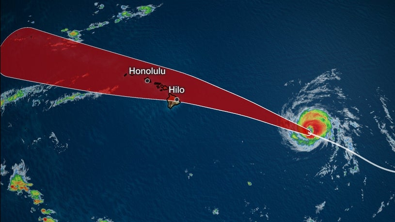 Hurricane Watch Issued for Eastern Hawaii as Douglas Nears