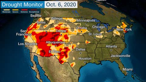 Us Drought Map Weather Com U.S. Now Experiencing Worst Drought Conditions Since 2013 | The