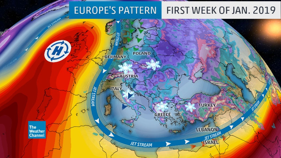 Europe Weather Pattern Generates Feet of Snow, Coastal Flooding ...
