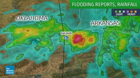 One Killed in Fort Smith, Arkansas, Flash Flooding, Saturday Morning