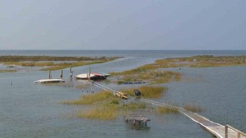 Rising Sea Levels Claim a Chesapeake Bay Landmark