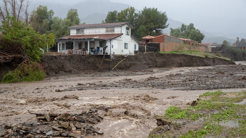 California Rain Eases but Threat of Mudslides Remains