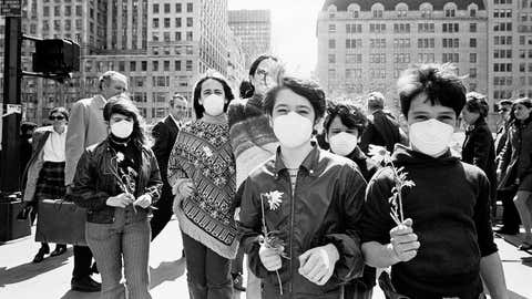 NEW YORK, NY - APRIL 20: Earth Day on April 20, 1970 in New York, New York. (Photo by Santi Visalli/Getty Images)