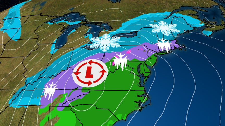 Heavy Snow Sunday as Winter Storm Harper Moves into Northeast