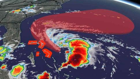 Bahamas: Tropensturm Humberto bringt vier Meter hohe Wellen