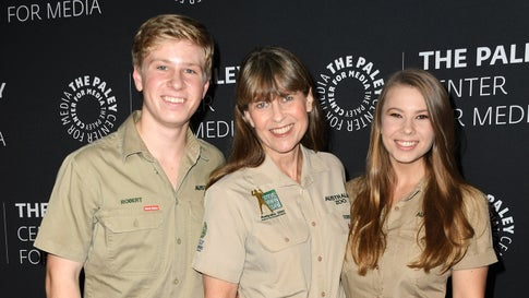 "BEVERLY HILLS, CALIFORNIA - MAY 03:  Robert Irwin, Terri Irwin and Bindi Irwin attend The Paley Center For Media Presents: An Evening With The Irwins: ""Crikey! It's The Irwins"" Screening And Conversation at The Paley Center for Media on May 03, 2019 in Beverly Hills, California. (Photo by Jon Kopaloff/Getty Images)"