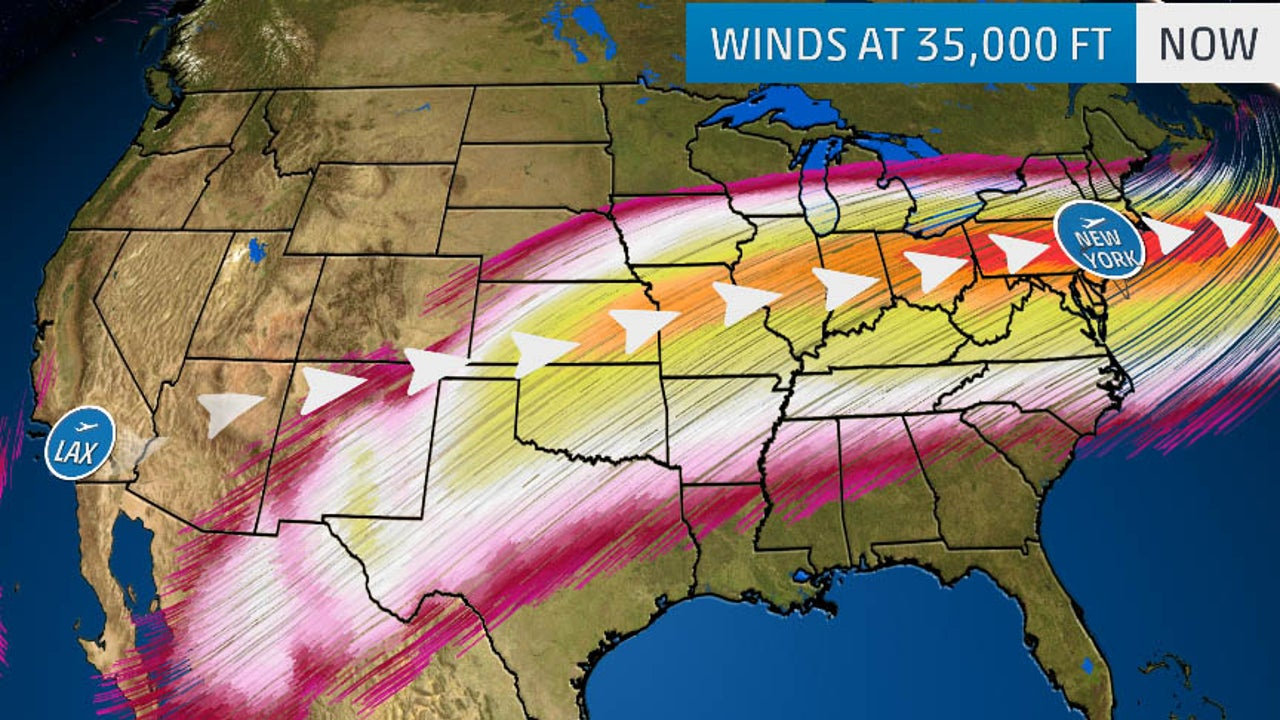 Current Us Jet Stream Map Jet Stream Winds from Southwest to Northeast U.S. Among the
